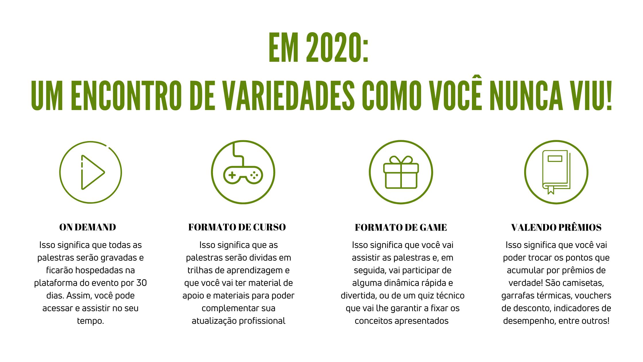 encontro de variedades em 2020